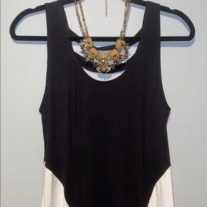 Boutique Black & White Maxi Dress